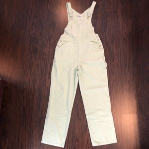 Newport News Light Green Overall jumpsuit Size 6
